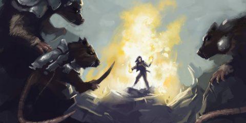 Pyromancer vs Wererats | Vorpal Pen of Drawing +5