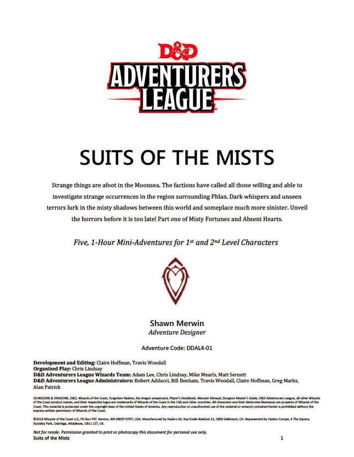 Primeira página da Aventura 1