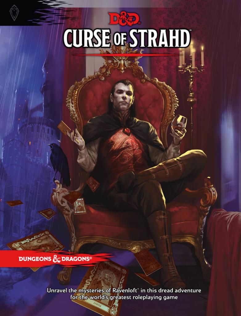 Capa do Livro Curse of Strahd, WotC 2016