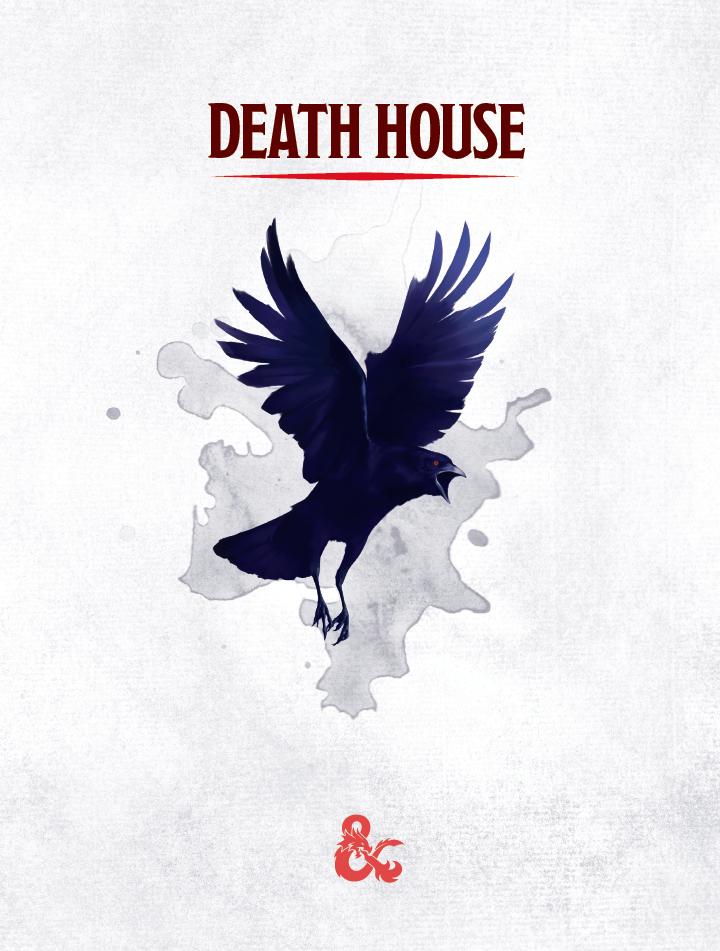 Primeira página da aventura Death House