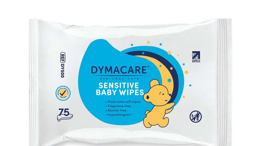 Dymacare® Sensitive Baby Wipes 75's