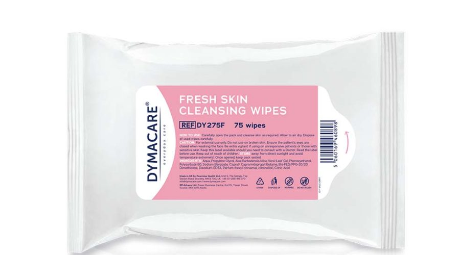 Dymacare® Economy Fresh Skin Cleansing Wipes 75's