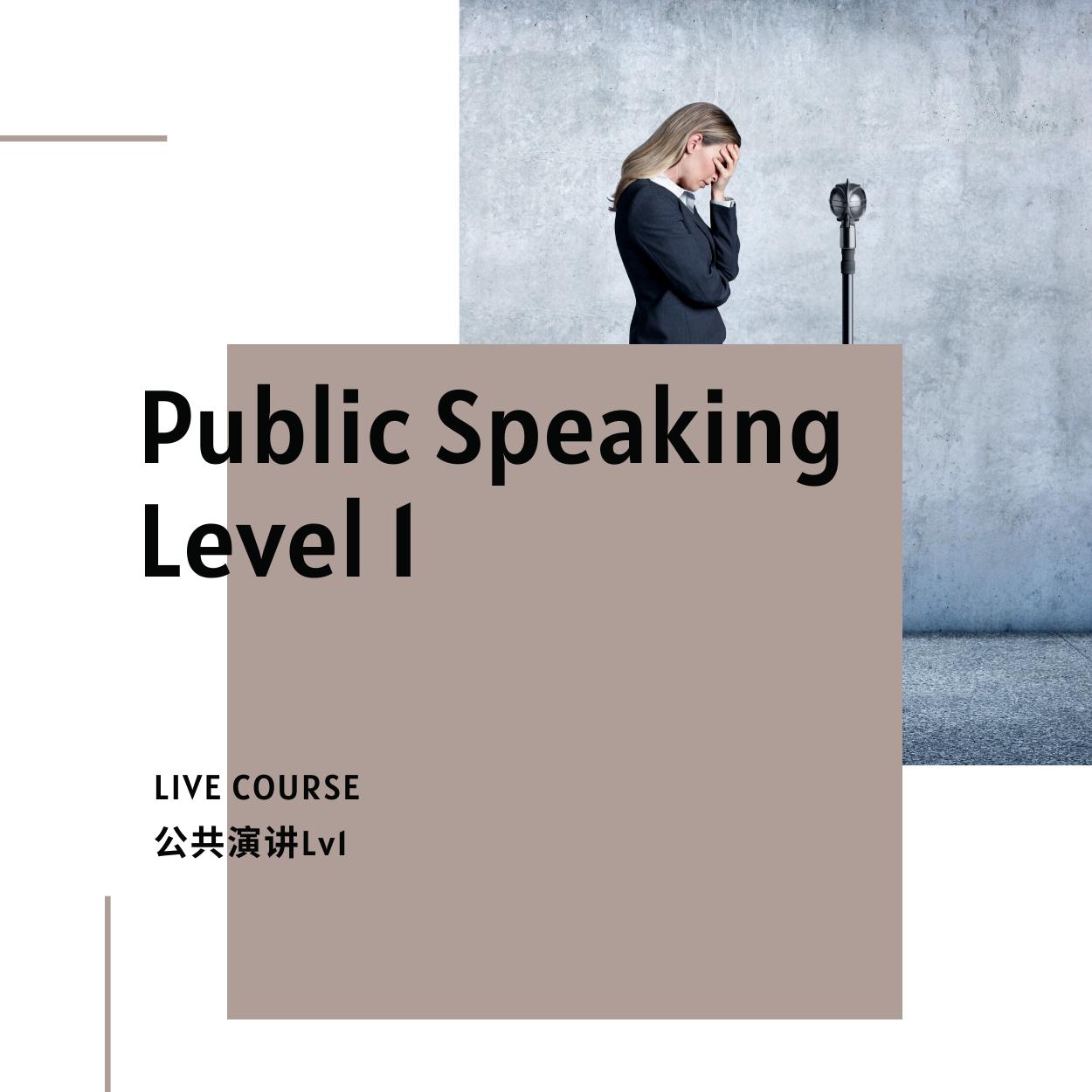 Public Speaking Course 1
