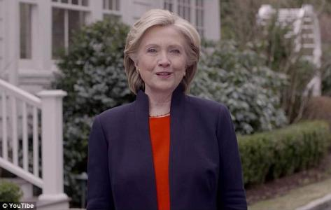'Everyday Americans need a champion': Wealthy Hillary Clinton finally enters formal race to be president with video telling middle class...