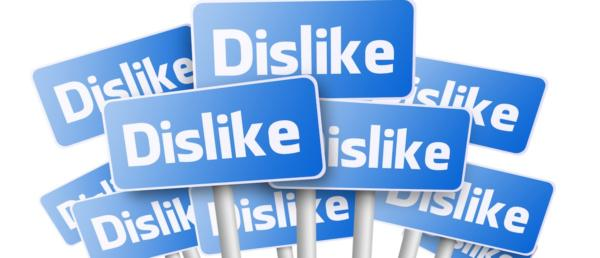 Blue-signs-with-Dislike-text-word-on-white-e1463149915209