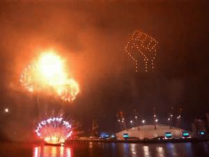 Sadiq Khan Lights Up London Sky with BLM Fist for New Year Fireworks