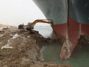 Suez Canal Blockage Enters Day Two, May Last Weeks