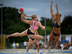 Pink Offers to Pay Fine for Norwegian Handball Team Bikini Bottom Violation