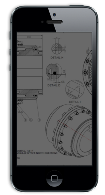 Wheelco Phone CAD Drawing