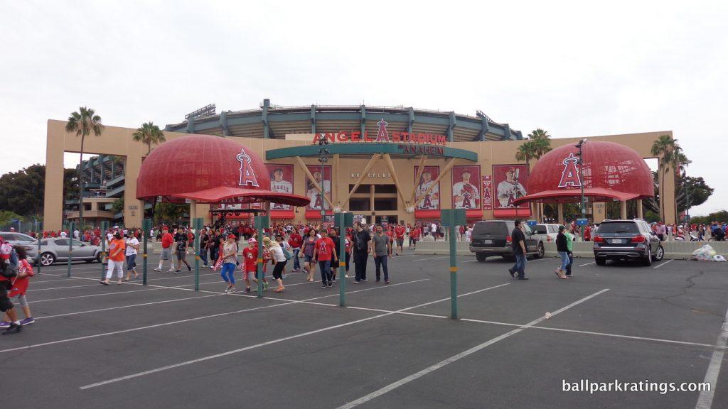 Angel Stadium exterior architecture