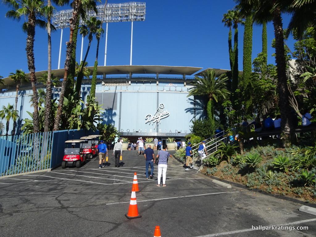 Dodger Stadium exterior architecture
