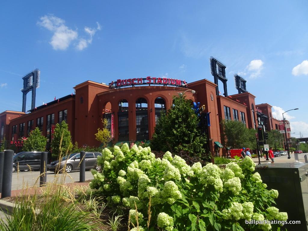 Busch Stadium exterior architecture