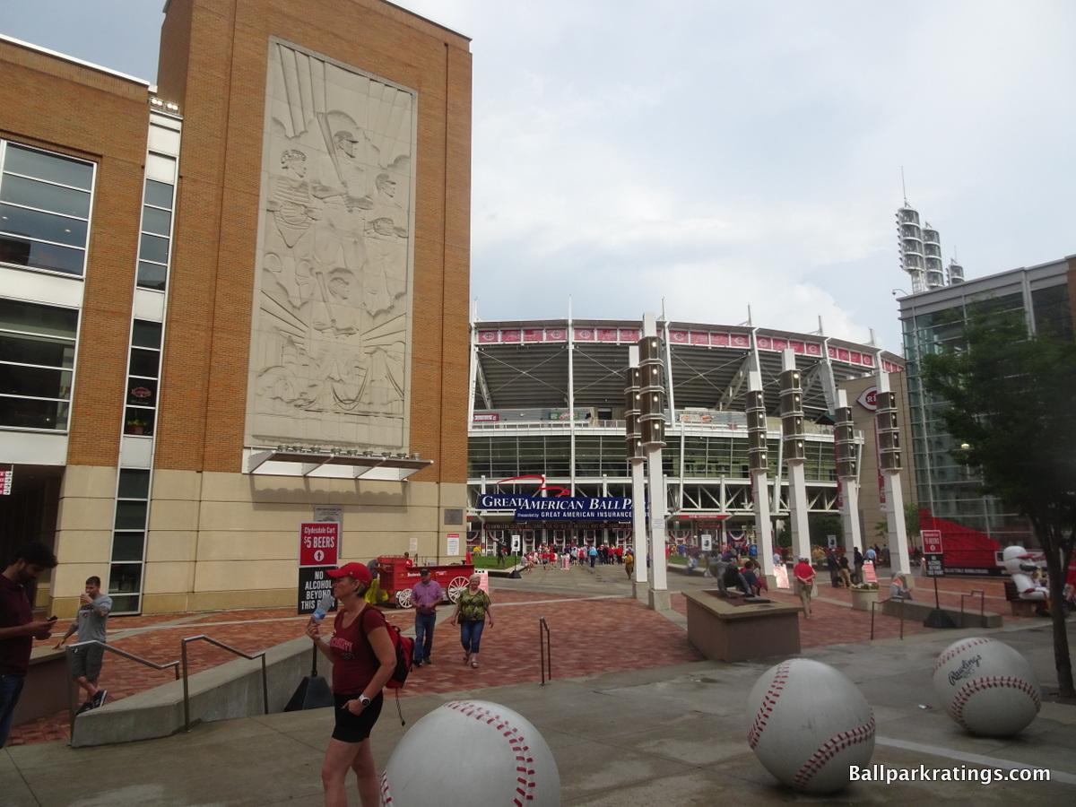 Great American Ballpark exterior architecture