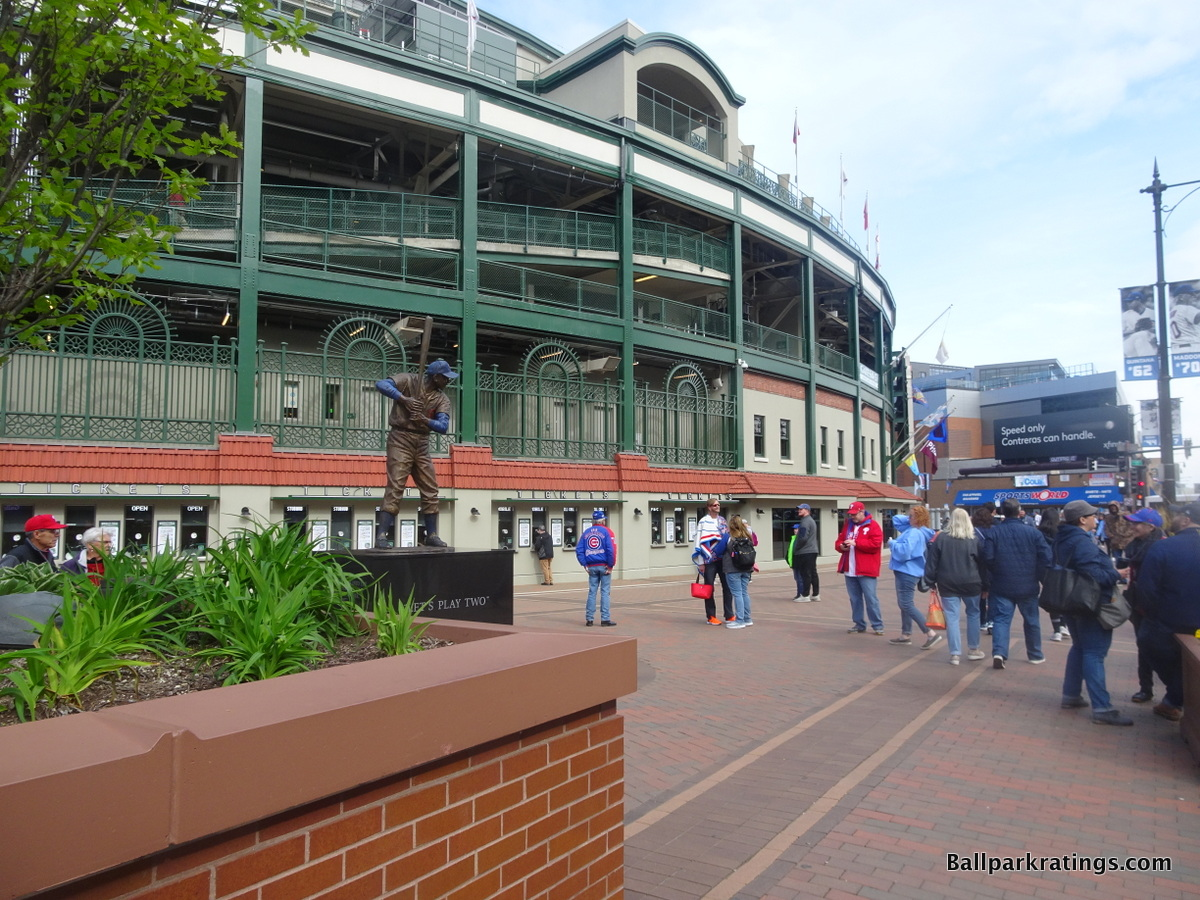 Wrigley Field exterior architecture