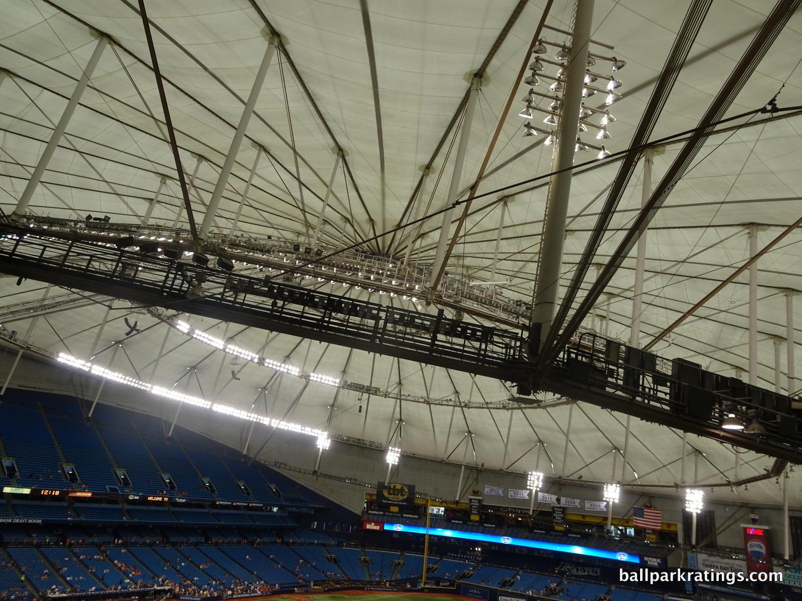 Tropicana Field catwalks slanted roof