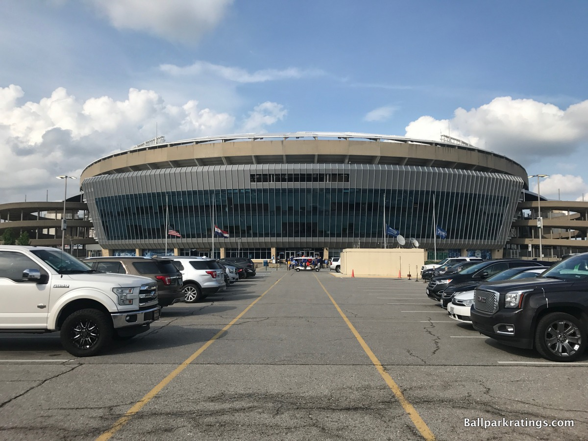 Kauffman Stadium exterior architecture