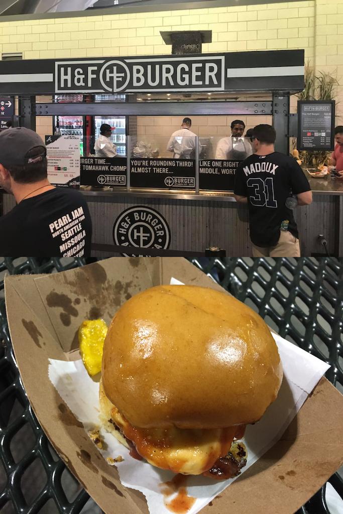 H&F Burger at Truist Park.