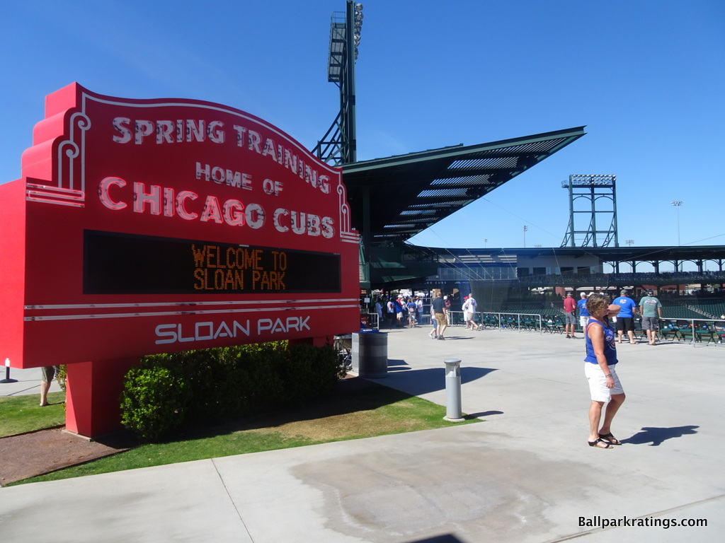 Sloan Park Chicago Cubs marquee