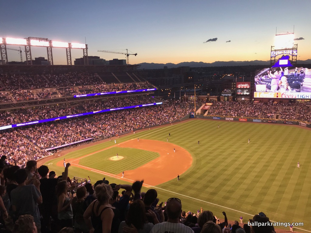 Mountains Coors Field view