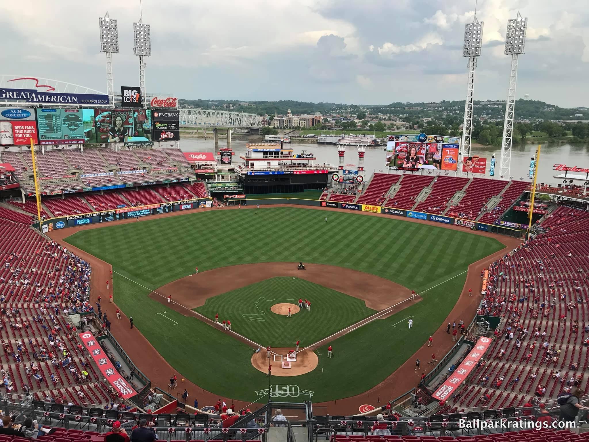 Great American Ballpark 2019 interior
