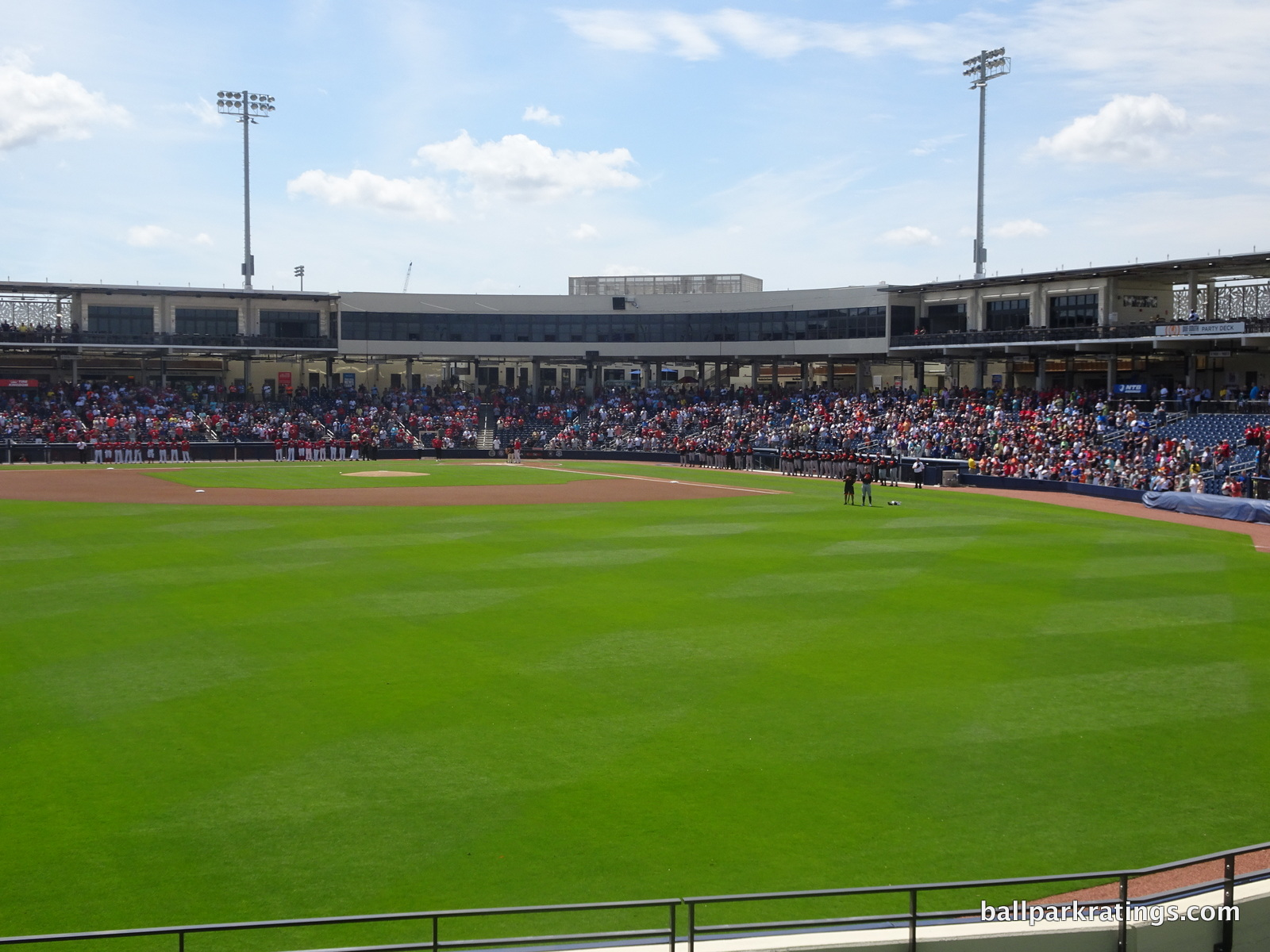 Ballpark of the Palm Beaches seating interior from berm
