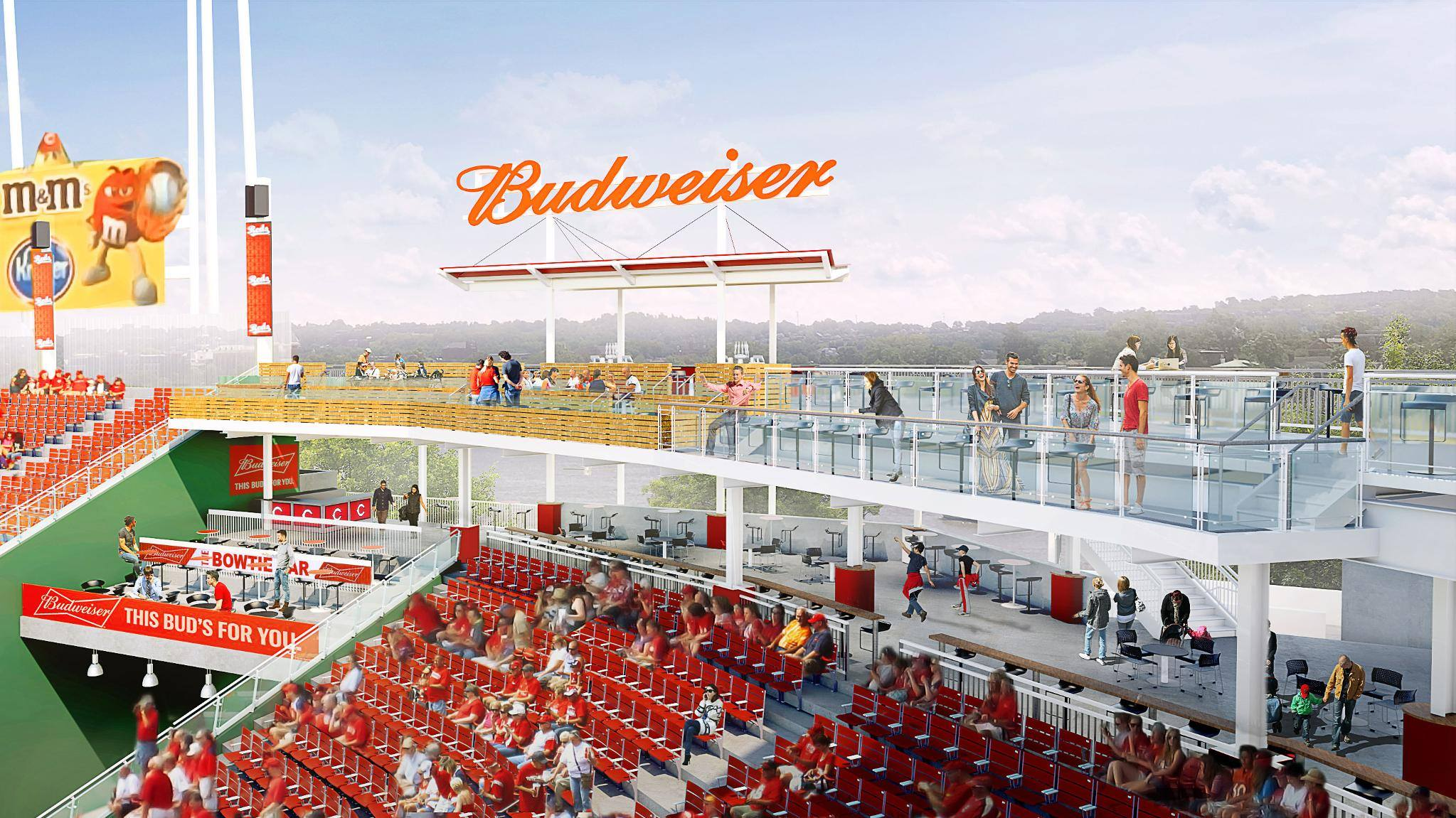 Budweiser Bowtie Bar Great American Ballpark