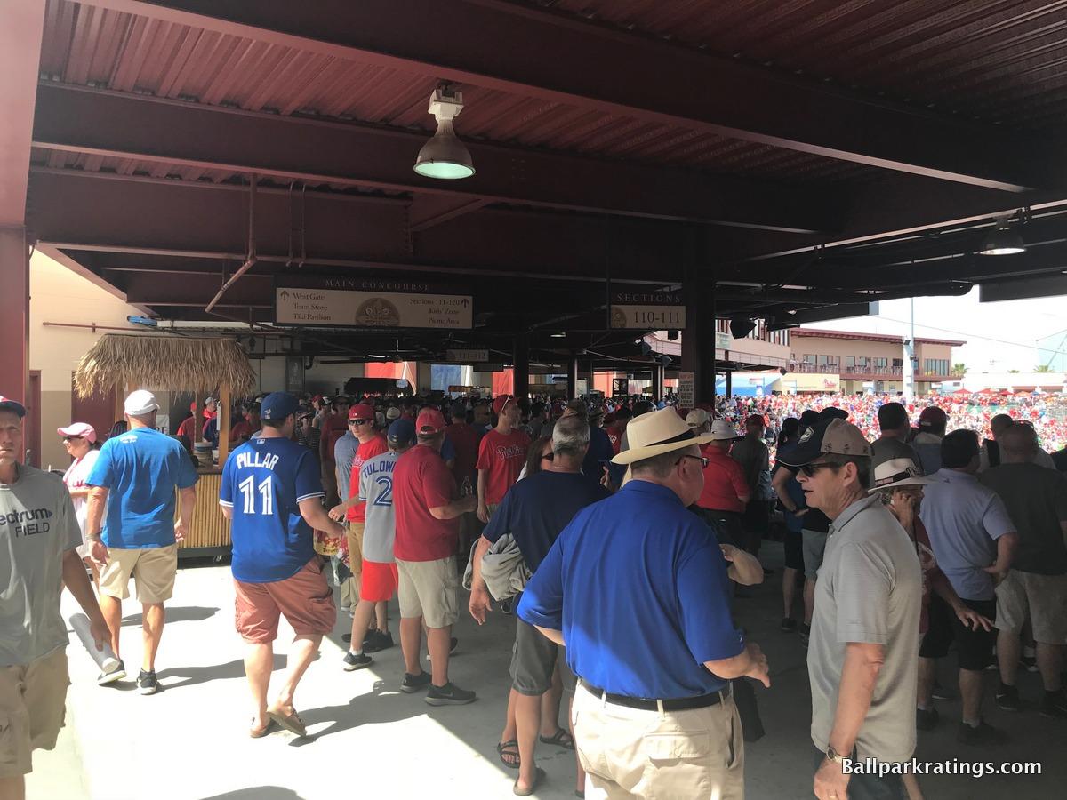 BayCare Ballpark concourse
