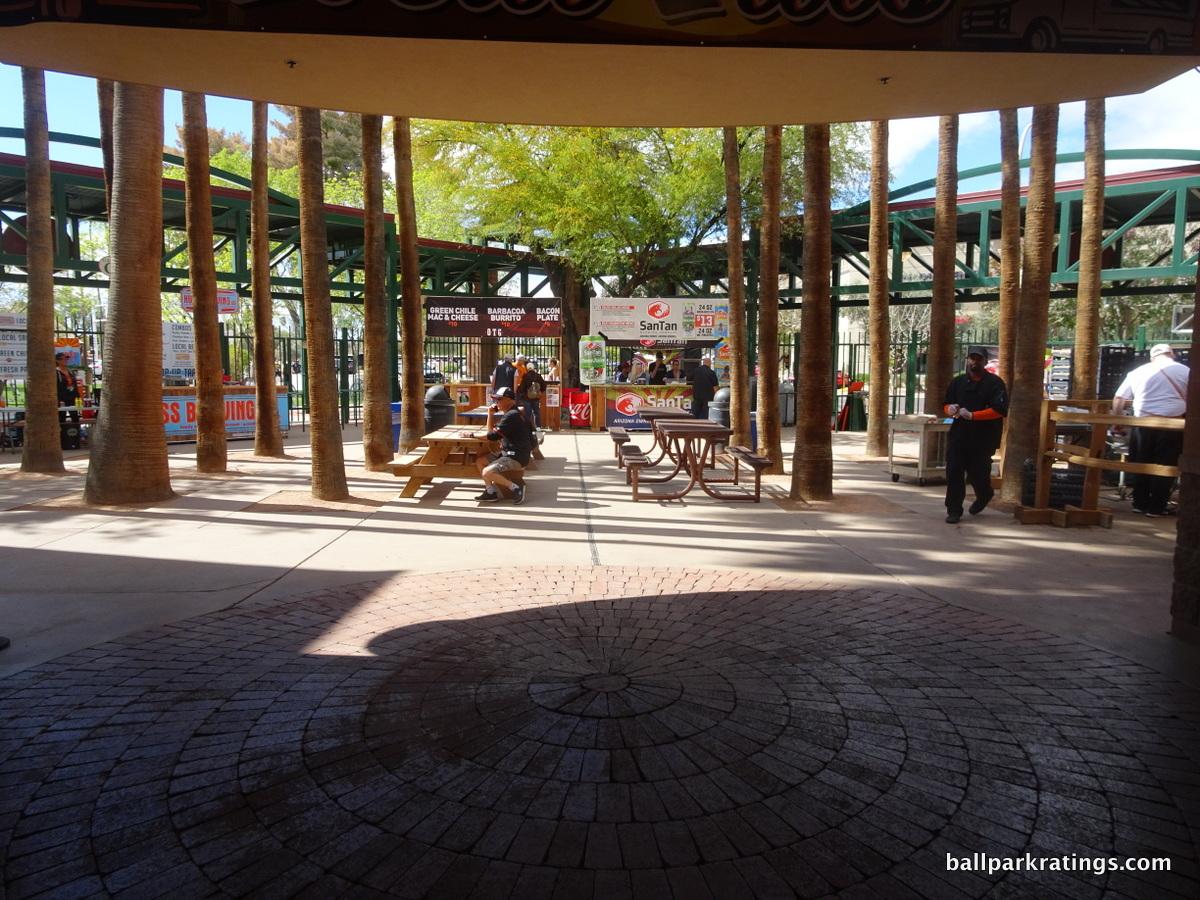 Scottsdale Stadium palm tree court plaza