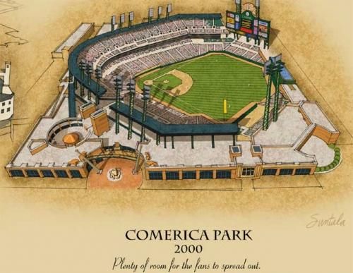 Comerica Park rendering 2000