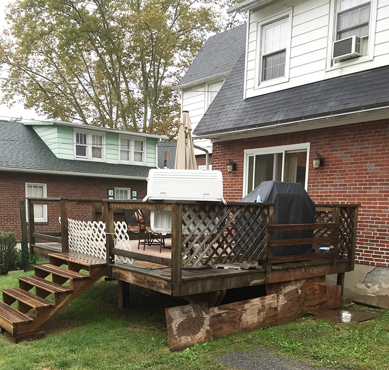 Exterior Deck Before