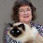 Jan Marshall with Cat
