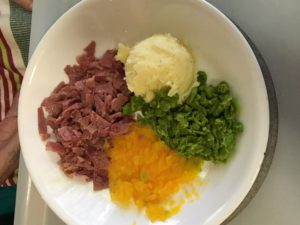 Mum's Lunch with shredded peas