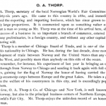 Description of OA Thorp from the Columbian Exposition 1893