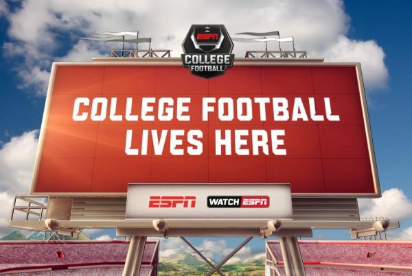 College Football Lives Here - DIgital OOH