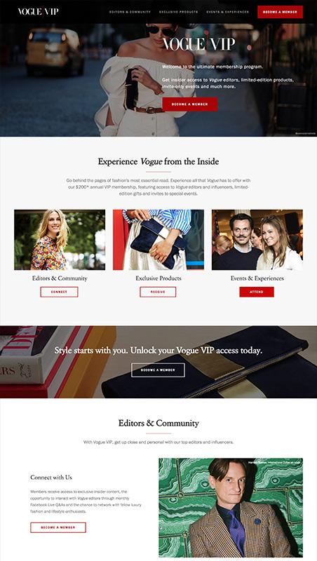 Vogue VIP - Exclusive Benefits