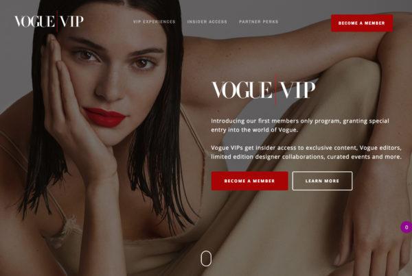Vogue VIP Landing Page
