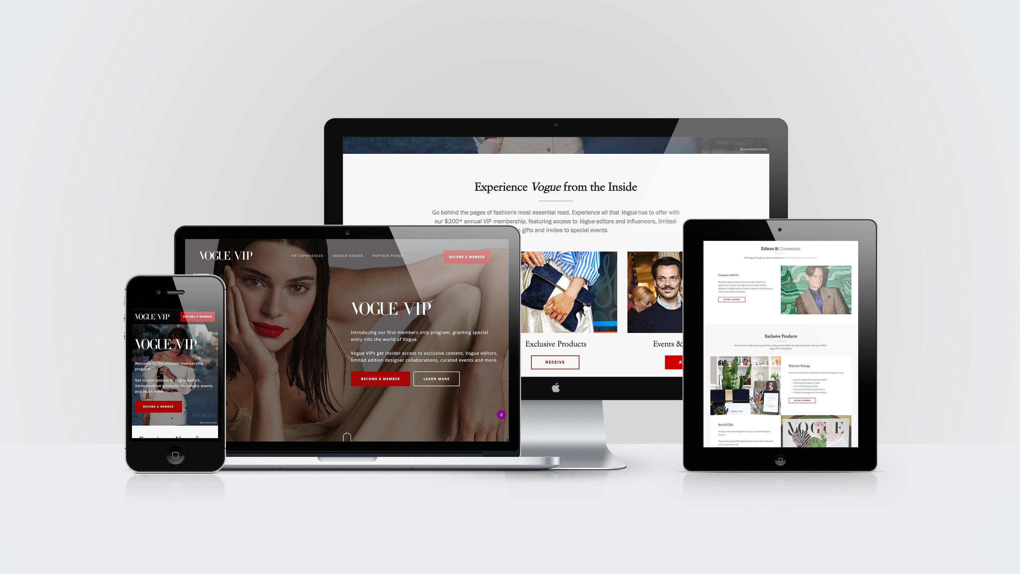 Vogue VIP - Landing Page