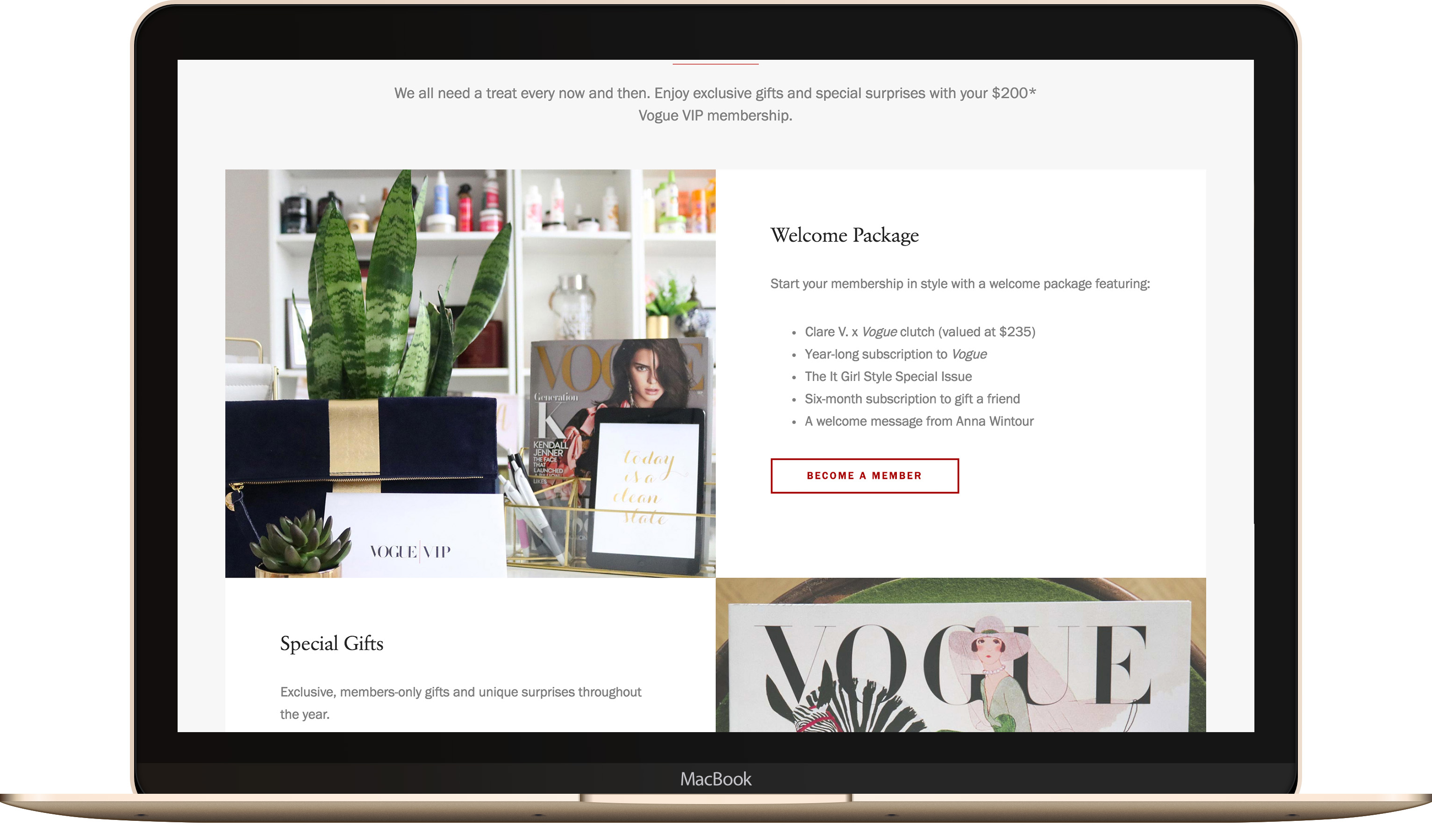 Vogue VIP - Landing Page - Exclusive Products