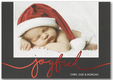 Joyful - Photo Holiday Card
