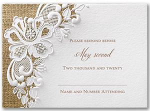 Invitation B List Respond Card