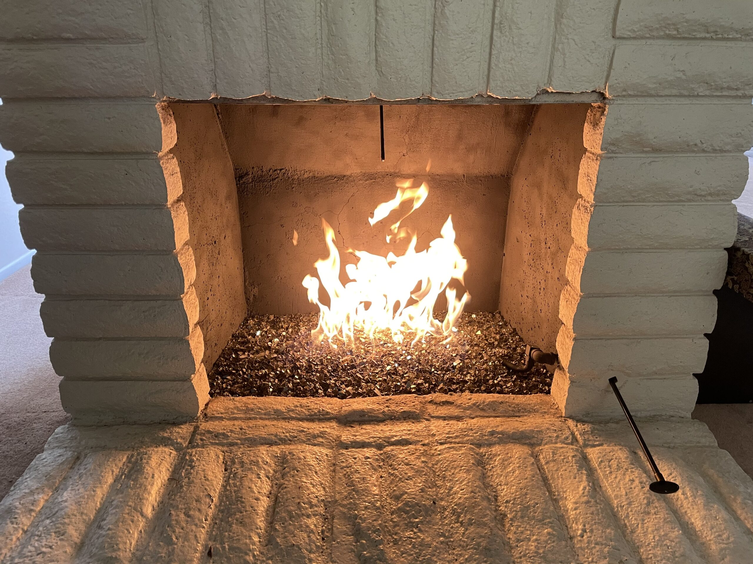 Glass Fire Rocks installed by A-1 Duct Cleaning & Chimney Sweep in Orange County, CA