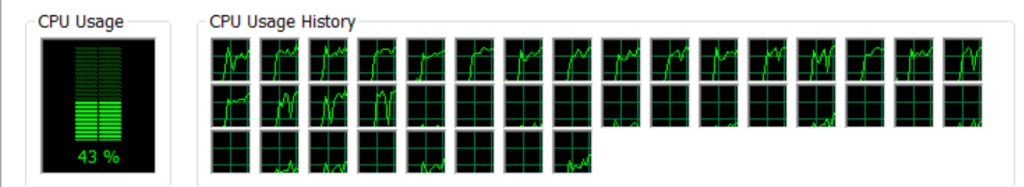 Shows high CPU usage with many FFmpeg threads set