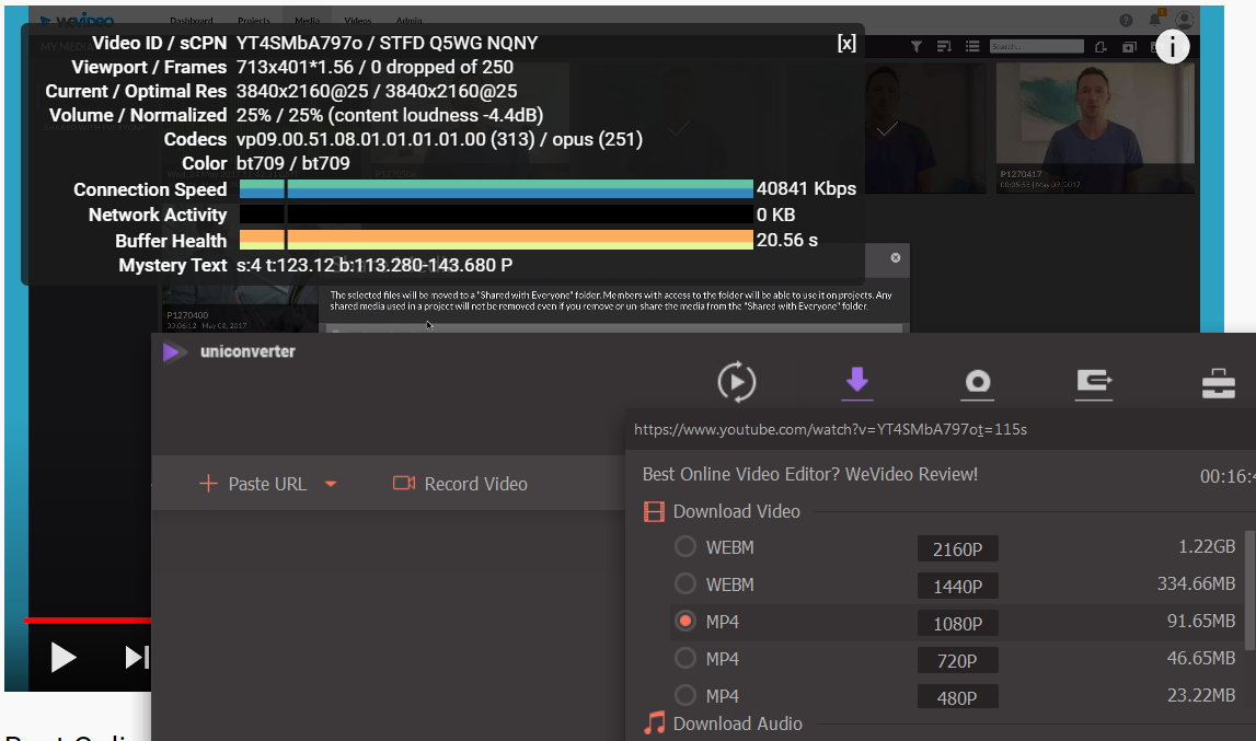 Which codec does YouTube Use for 4K videos? YouTube encodes versions larger than 1080p using VP9 only, but creates 1080p and smaller versions with H.264.