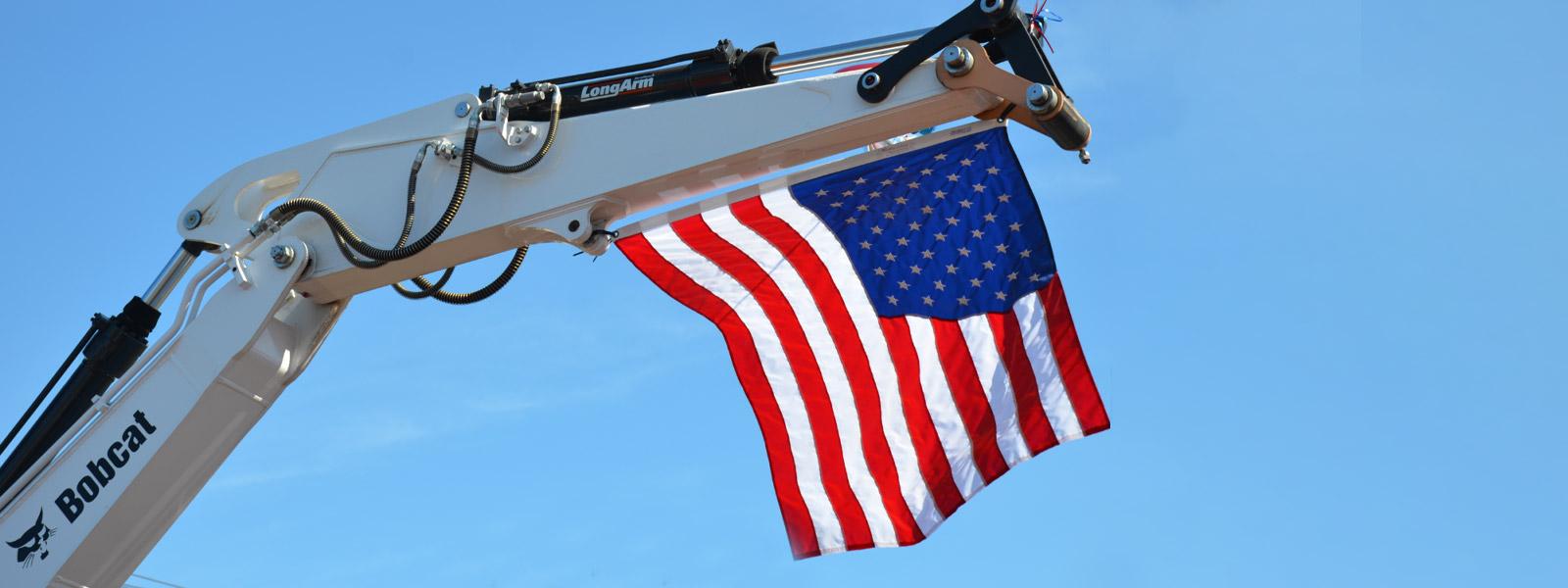 Flag on a bobcat