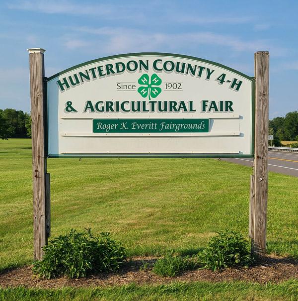 Hunterdon County Fairgrounds sign