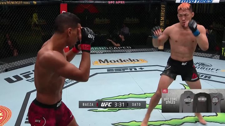 Miguel Baeza vs Takashi Sato (UFC on ESPN 18)