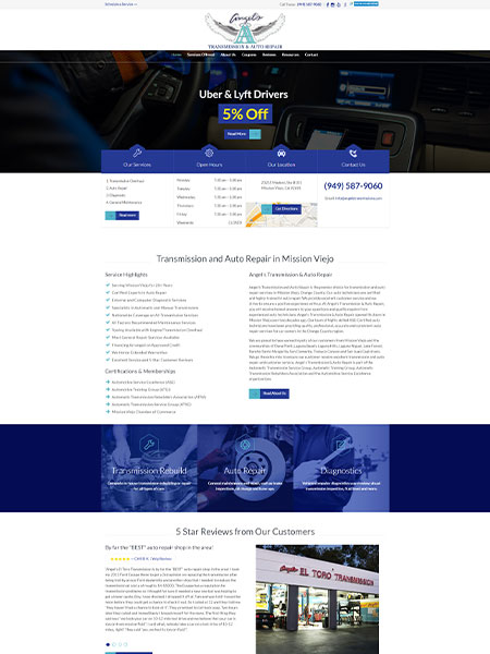 Maxeemize Online Marketing - Angels Transmission Website Design