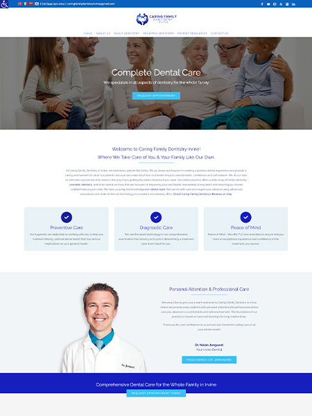 Maxeemize Online Marketing - Caring Family Dentistry Website Design