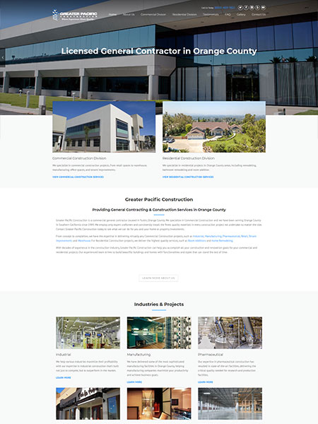 Maxeemize Online Marketing - Greater Pacific Construction Website Design