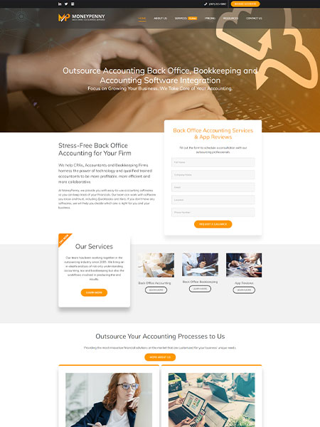 Maxeemize Online Marketing - MoneyPenny LLC Website Design